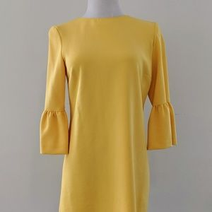 Yellow Zara Mini Dress w/ 3/4 Bell Sleeves